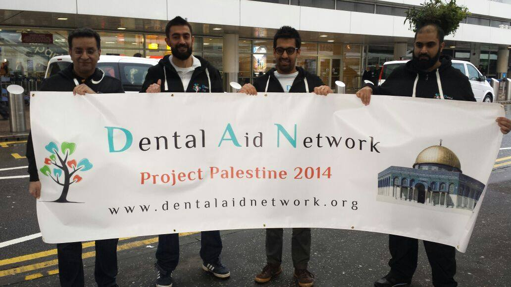 At glasgow Airport - Palestine 2014