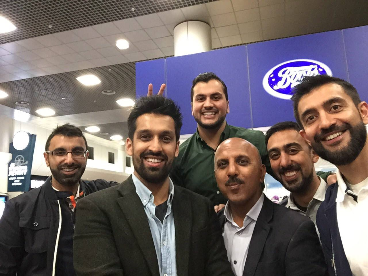 DAN Kashmir team in manchester airport