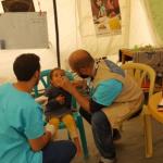 Screening in a refugee camp