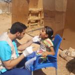 Screening in refugee camp