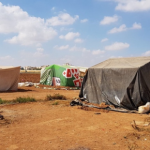 Picture of the tents in one of the camps